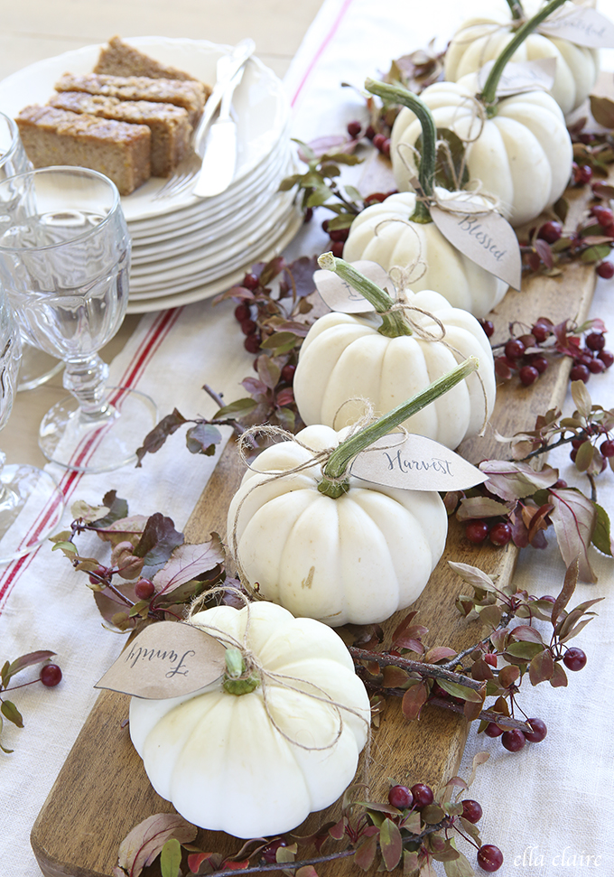 Pumpkin Leaves Table Decor