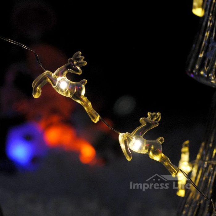 Reindeer Couple String Lights