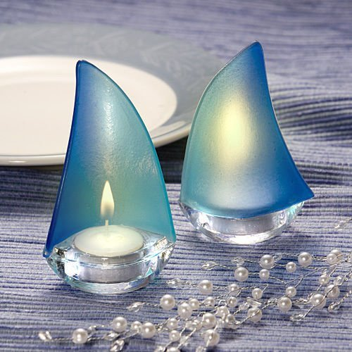 Sailboat Design Candle Holder