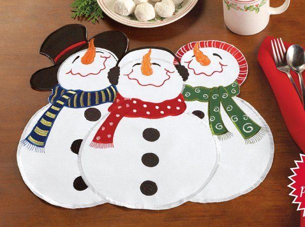 Snowman Winter Placemats