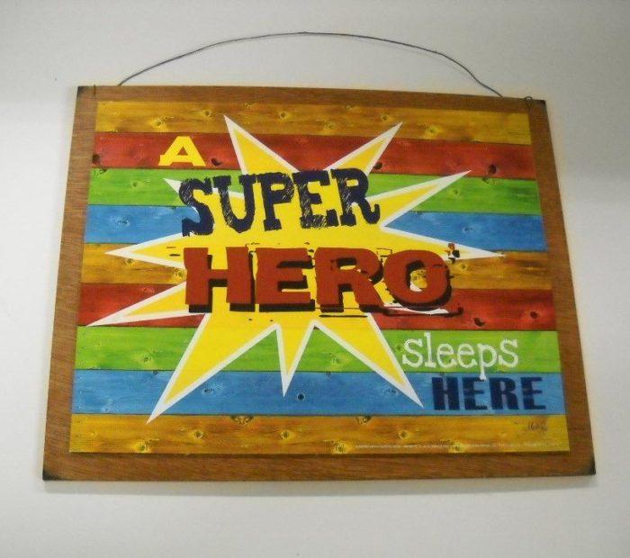 Super Hero Wooden Wall Art