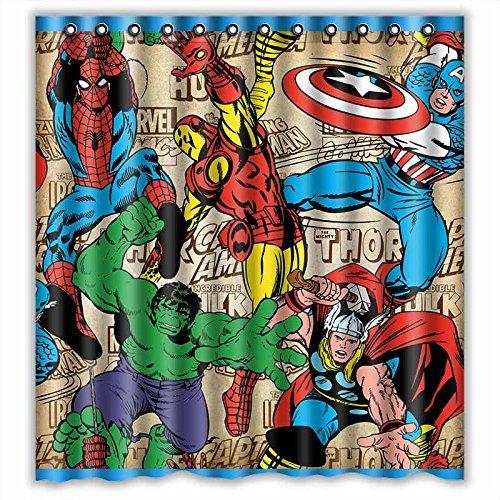 Superheroes Shower Curtain