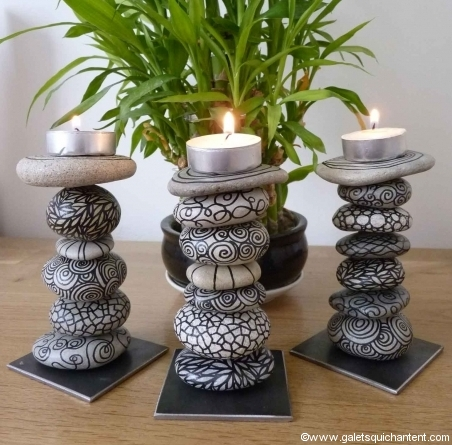 Tealight Decoration Pebbles