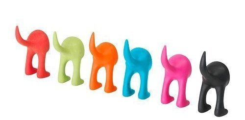 Assorted Color Rubber Hooks
