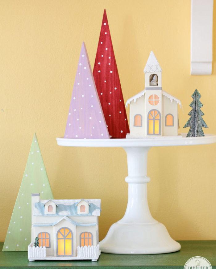 Colorful DIY Christmas Trees