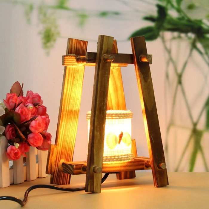 Creative Pastoral Style Wooden Lamp