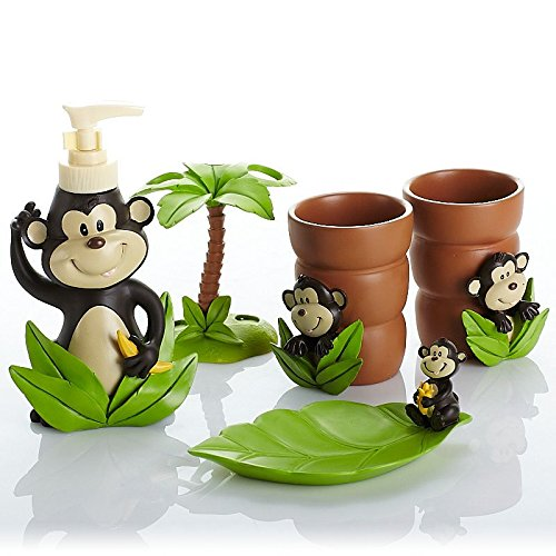 Cute Monkey Bathroom Set
