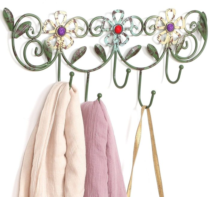 Flower Design Hanging Rack