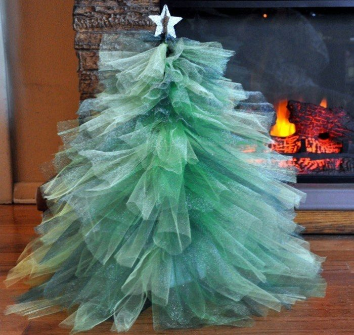 Fluffy Tulle Christmas Tree
