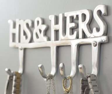 His and Hers Wall Mounted Hanger