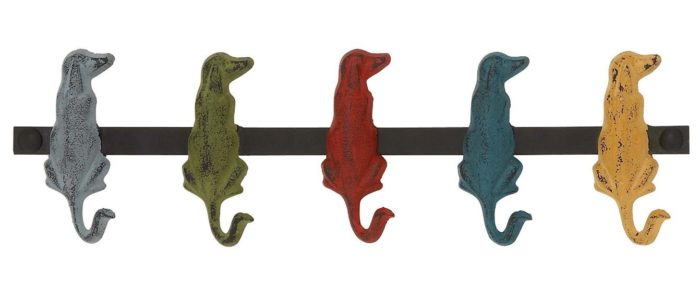 Metal Dog Wall Hooks