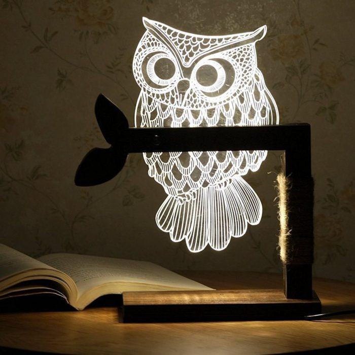 Owl Shape Desk Lamp