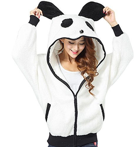 Panda Ear Tail Zip Coat