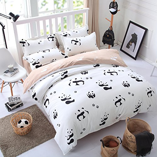 Panda Pattern Duvet Cover Set
