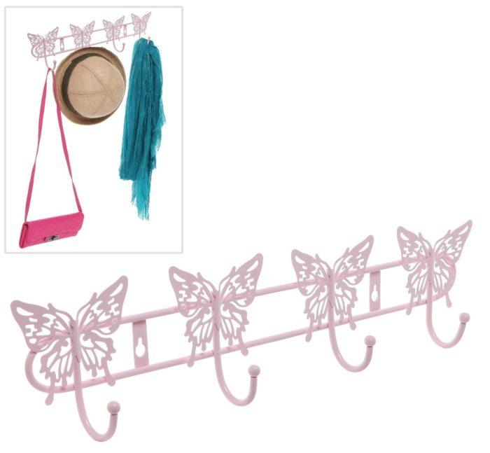 Pink Butterfly Storage Hanger