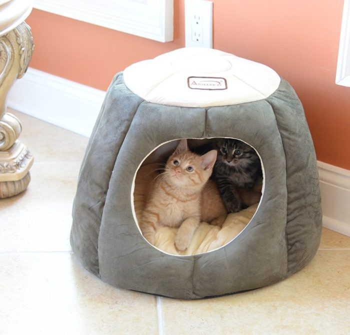 Quilted Halo Cat Bed