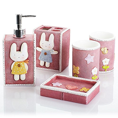 Rabbits Exhibited Bathroom Set