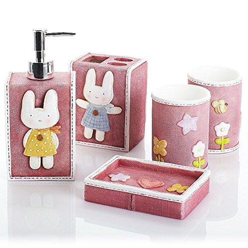 Rabbits Exhibited Bathroom Set