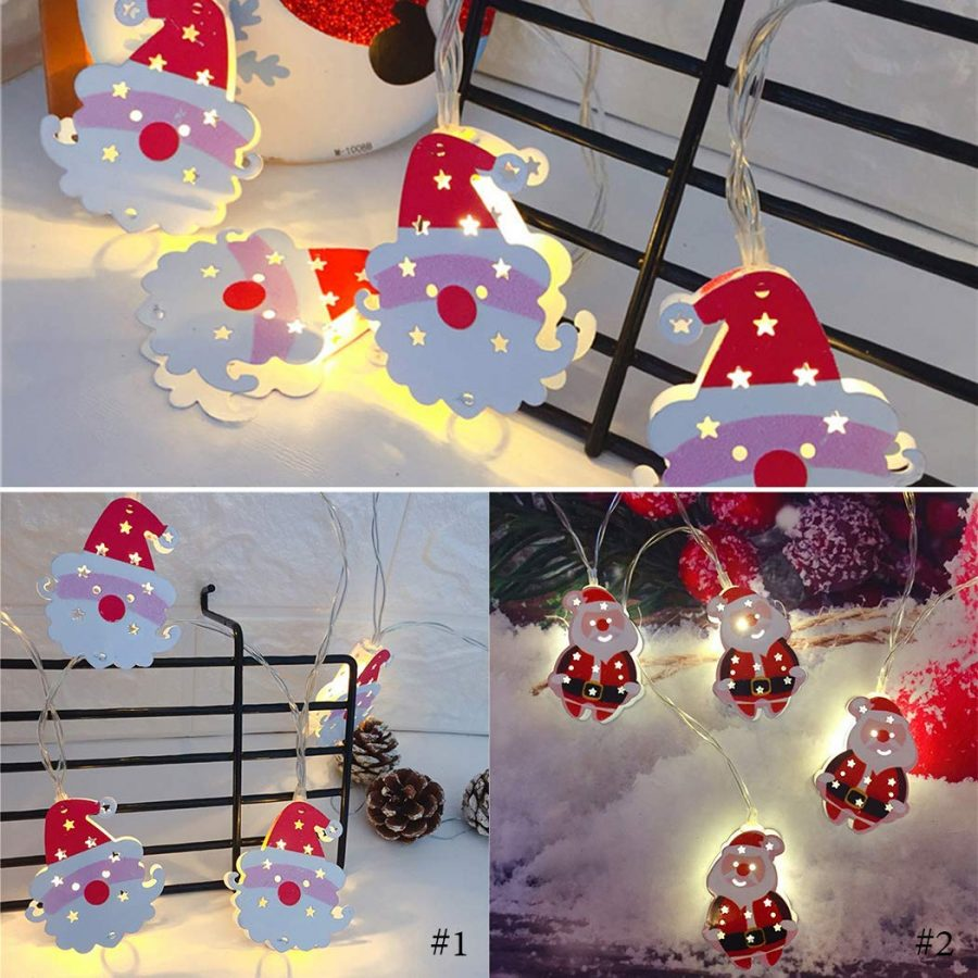 Santa Claus Decorative LED String Lamp