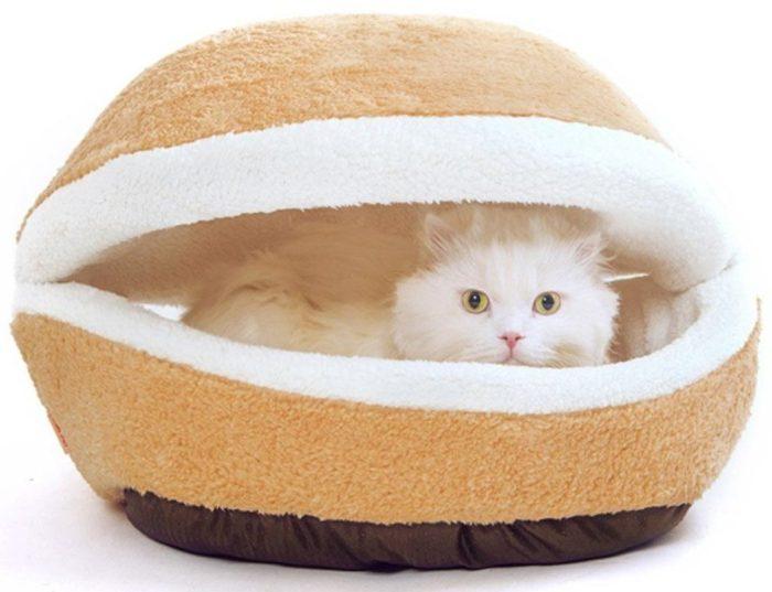 Shell-shaped Burger Bun Pet Bed