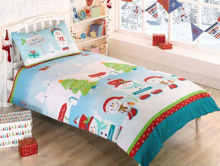 Snowman Christmas Single Duvet
