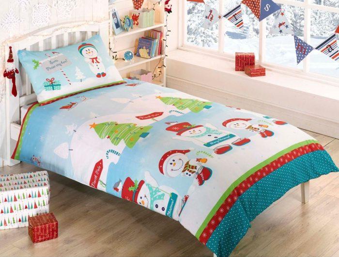 Snowman Christmas Single Duvet