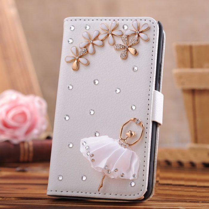 Bling Diamond Flower Iphone Case Cover