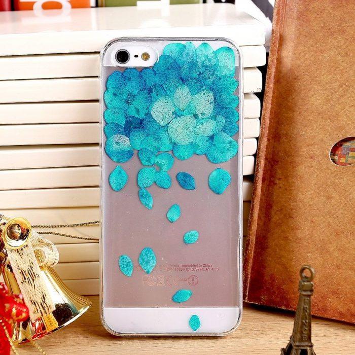 Blue Fallen Rose Iphone Case Cover