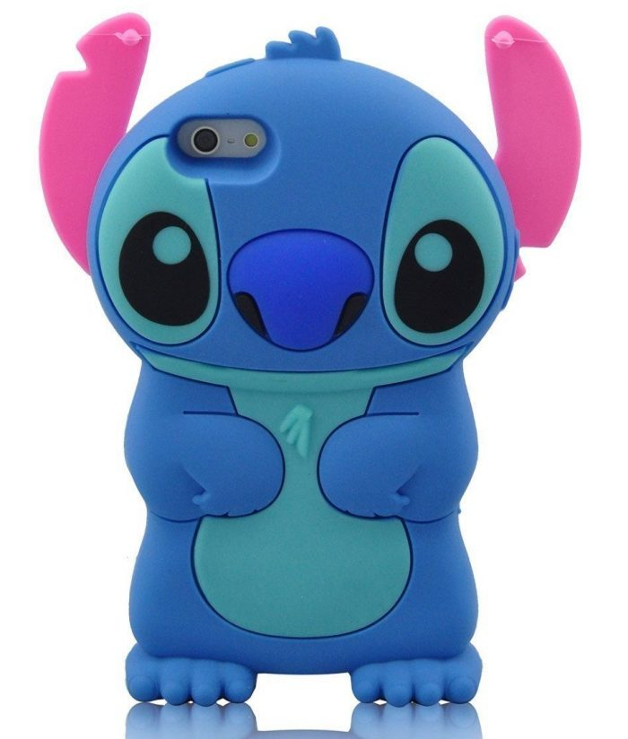 Blue Movable Ear Flip Iphone Case Cover