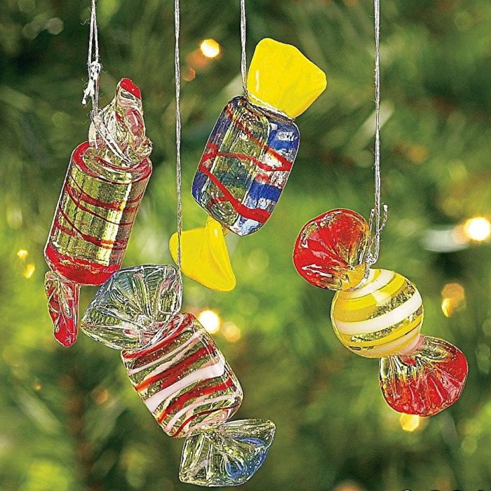 Candy Holiday Christmas Ornaments