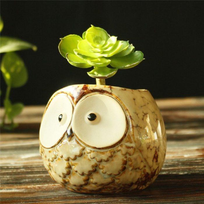 Charming Owl Planter