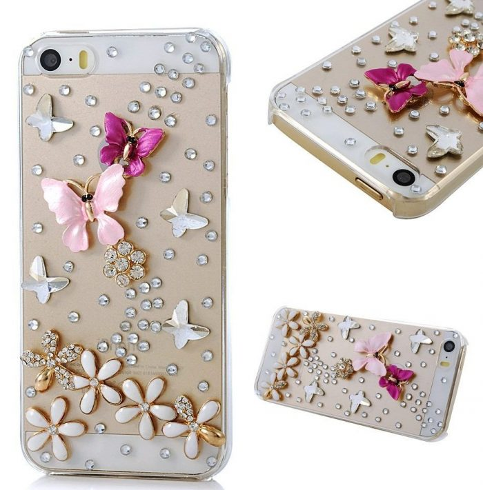 Crystal Butterfly Iphone Case Cover