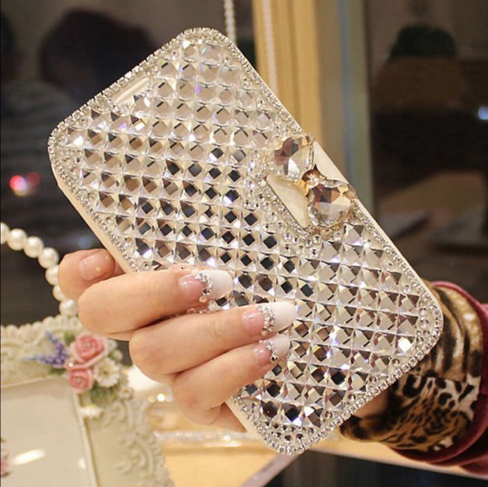 Crystal Diamond Leather Iphone Case Cover