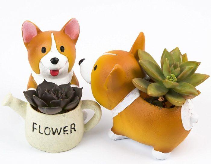 Cute Corgi Dog Style Planter