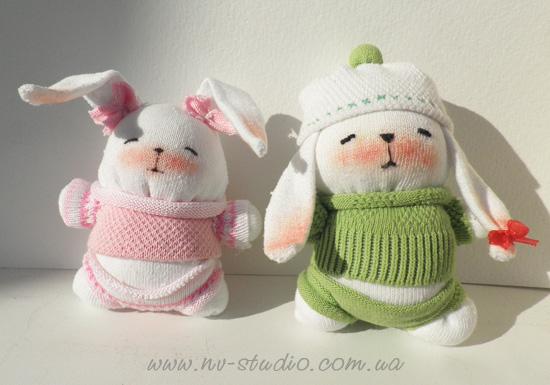 DIY Sock Bunny Toys