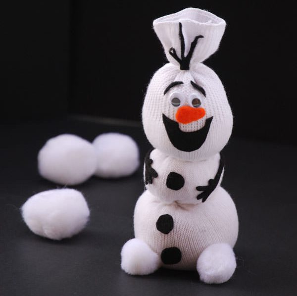 DIY Sock Happy Snowman