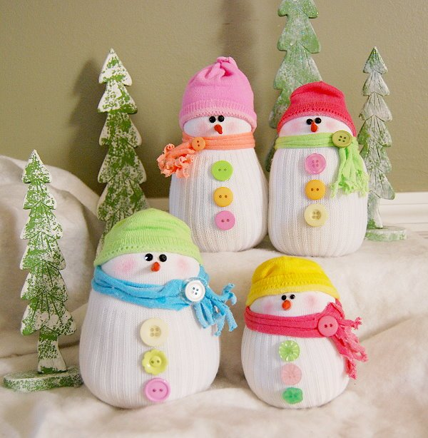 Decorative Snowmen With Cute Hats