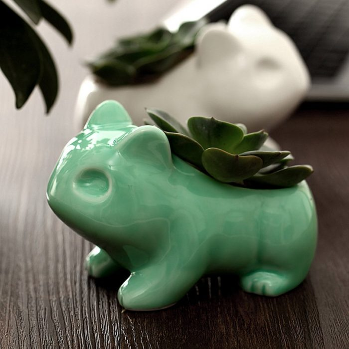 Green Bulbasaur Shaped Planter