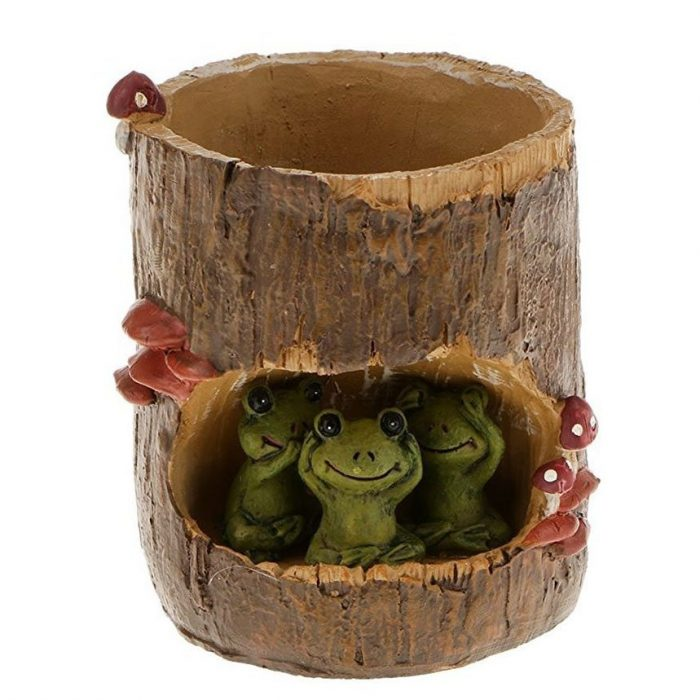 Green Frogs Sedum Planter