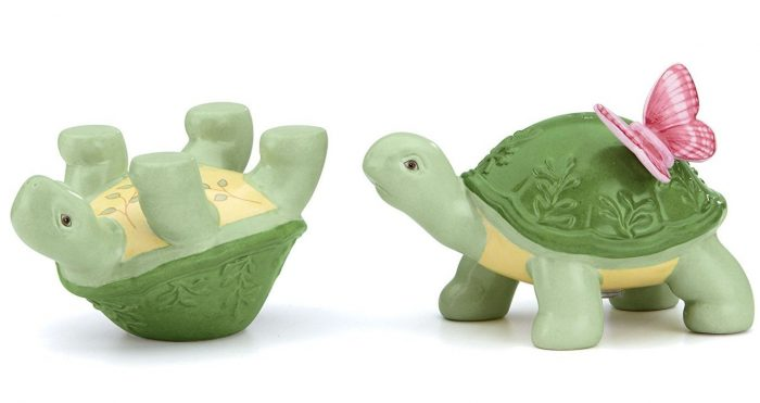 Green Turtle Salt & Pepper Shakers
