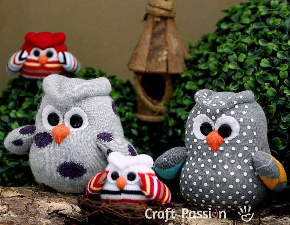 Handmade Sock Owls