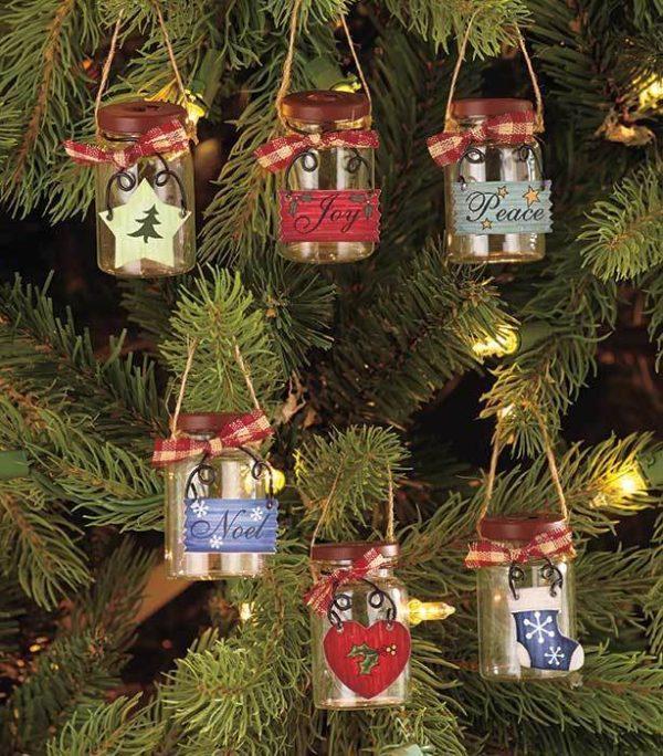 Mini Mason Jar Ornaments