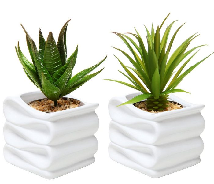 Modern White Folded Design Planters