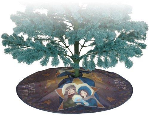 Peace On Earth Printed Christmas Tree Skirt