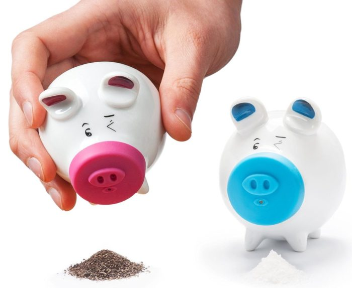 Pink and Blue Pigs Classic Shakers