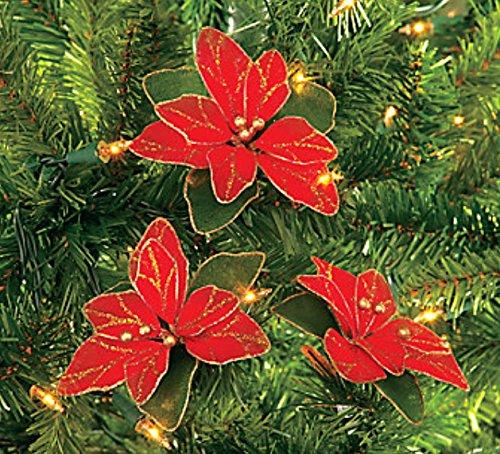 Poinsettia Christmas Tree Ornaments