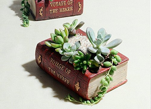 Realistic Book Shape Planter