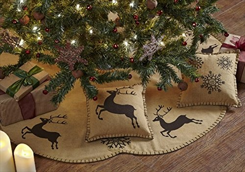 Reindeer Themed Christmas Tree Skirt