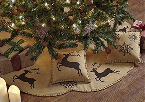 Reindeer Themed Christmas Tree Skirt