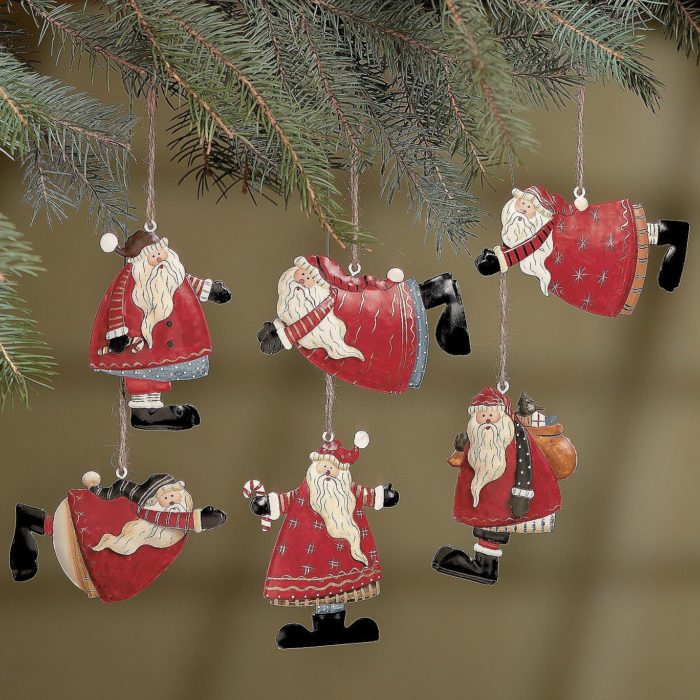 Santa Folk Christmas Ornaments